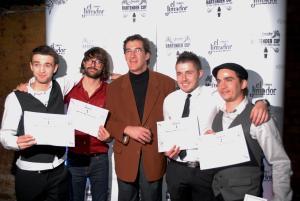 Na zdjęciu: Zwycięzcy El Jimador Bartender Cup w towarzystwie eksperta od tequili. Od lewej: Denis Babarayka (Rosja), Joshua Fontaine (Francja), Rubens Aceves (Meksyk), Krzysztof Jadach (Polska), Georgios Megalokonomos (Grecja).