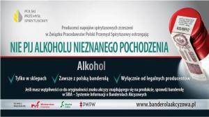 Nie pij alkoholu nieznanego pochodzenia.